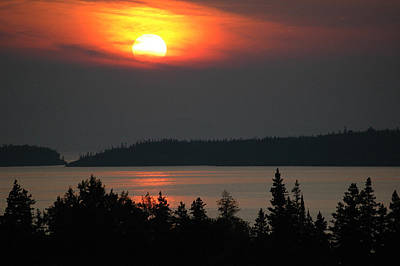 Forest Photograph - Lake Superior Sunset by Rob Huntley