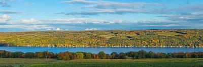Keuka Photograph - Lake Surrounded By Hills, Keuka Lake by Panoramic Images