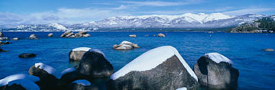 Bodies Of Water Photograph - Lake Tahoe In Winter, California by Panoramic Images