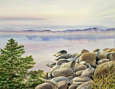 Serenity Scenes Painting - Lake Tahoe by Irina Sztukowski