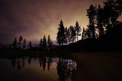 Sand Harbor Photograph - Lake Tahoe Sand Harbor Silhouette by Scott McGuire