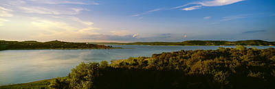 Austin Photograph - Lake Travis At Dusk, Austin, Texas, Usa by Panoramic Images