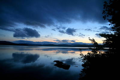 Photograph - Lake Umbagog Sunset Blues No. 2 by Neal Eslinger