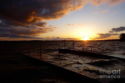 Lake Waconia Sunset Print by Jacqueline Athmann