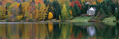 Lake With House, Canada Print by Panoramic Images