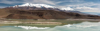 Lake With Snowcapped Volcanic Peaks Print by Panoramic Images