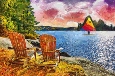 Lakescene Print by Anthony Caruso
