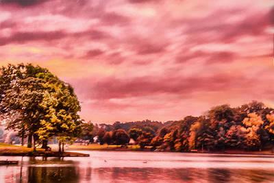 Landscape Photograph - Lake - Sunrise - Landscape - Lakeside Dawn by Barry Jones