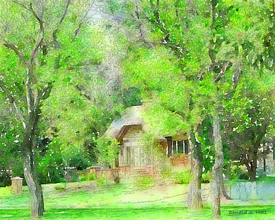 Charming Cottage Digital Art - Lakeside House by Donald S Hall
