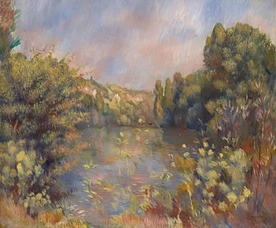 Pierre-auguste Renoir Painting - Lakeside Landscape by Pierre-Auguste Renoir
