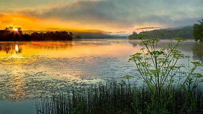 Lake Waramaug Photograph - Lakeside Sunrise by Bill Wakeley