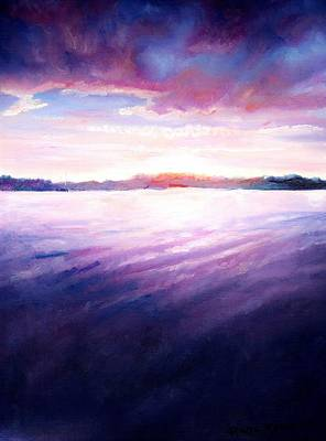 Lakeside Sunset Print by Shana Rowe Jackson