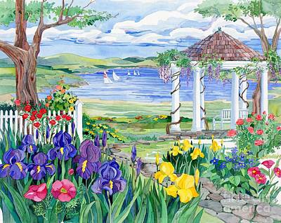 Gazebo Painting - Lakeview  by Paul Brent