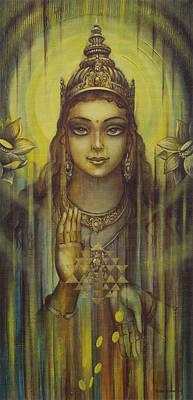 Prosperity Painting - Lakshmi Kripa by Vrindavan Das