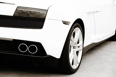 Black White Photograph - Lambo 3 by Marilyn Hunt