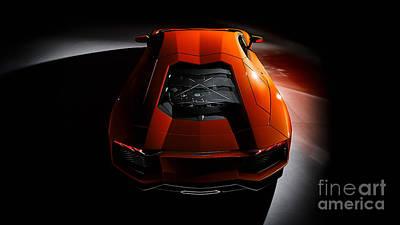 Lamborghini Aventador Print by Marvin Blaine
