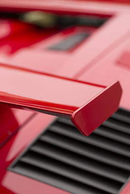 Lamborghini Countach Tail Spoiler Print by Scott Campbell