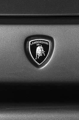 Diablo Photograph - Lamborghini Diablo Se Roadster Emblem by Jill Reger