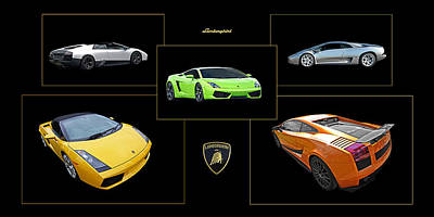 Raging Photograph - Lamborghini Poster Panoramic by Gill Billington