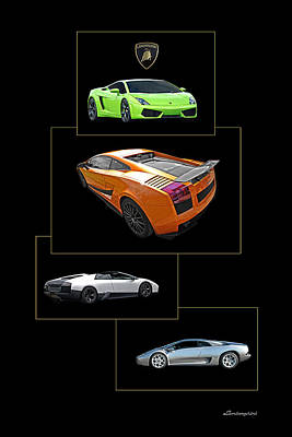 Raging Photograph - Lamborghini Poster Vertical by Gill Billington