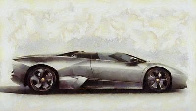 Expensive Painting - Lamborghini Reventon by Dan Sproul