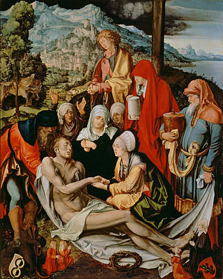 Crucifix Painting - Lamentation For Christ by Albrecht Durer or Duerer