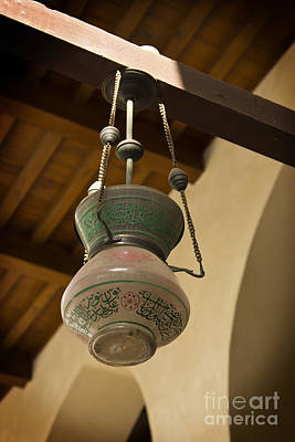 Lamp In Old Mosque Print by Mohamed Elkhamisy