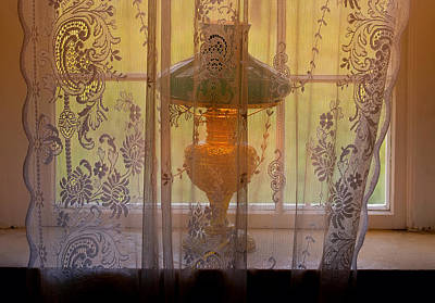 Historic Site Photograph - Lamp Light Glow by Stephen Anderson
