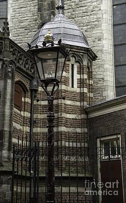 Weathervane Photograph - Lamp Post Amsterdam by Teresa Mucha