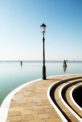 Post It Digital Art - Lamp Post On A Quayside by Paul Bucknall