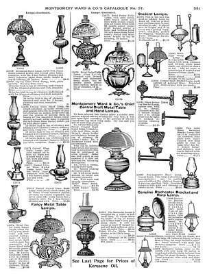 Lamps, 1895 Print by Granger