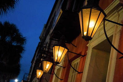 Gas Lamp Photograph - Lamps Lining The Streets At Duck by Julien Mcroberts