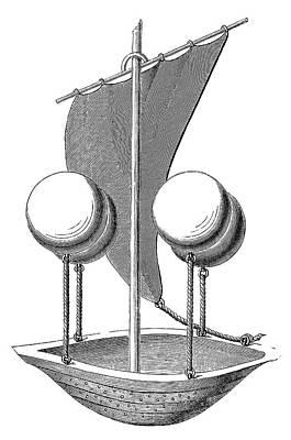 Lana Terzi's Airship Print by Science Photo Library