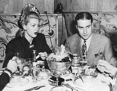 Lana Turner And Artie Shaw Print by Underwood Archives