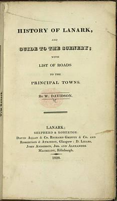 Etc. Photograph - Lanark by British Library