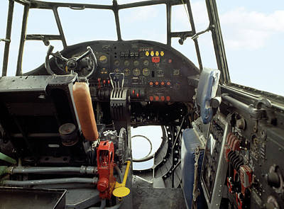 Cockpit Photograph - Lancaster Bomber Cockpit by Panoramic Images