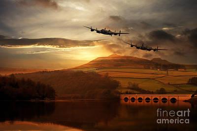Lancasters Tour The Derwent Print by J Biggadike