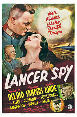 Lancer Spy, George Sanders, Dolores Del Print by Everett