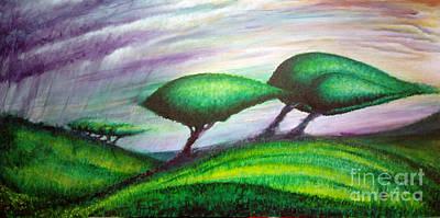 Terra Firma Painting - Land by Juan Jimenez