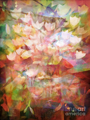 Flower Abstract Painting - Land Of Flowers by Lutz Baar