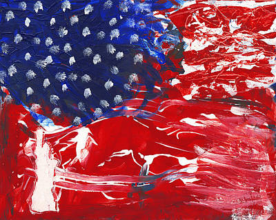 Independence Mixed Media - Land Of Liberty by Luz Elena Aponte