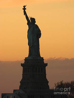 Liberty Island Digital Art - Land Of The Free And The Brave by Emmy Marie Vickers