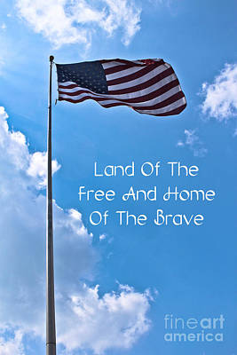 Land Of The Free Print by Joann Copeland-Paul