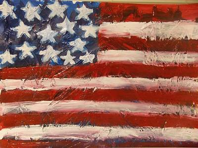4th Of July Painting - Land Of The Free by Niceliz Howard