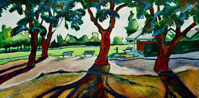 Early California Landscape Painting - Land Park Clubhouse by Patrick Cosgrove
