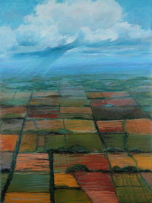 Arial View Painting - Land Use by Art Nomad Sandra  Hansen