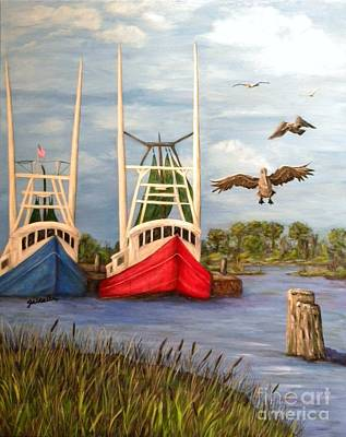 Net Painting - Landing by JoAnn Wheeler