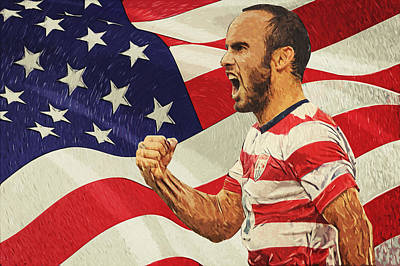 Landon Donovan Digital Art - Landon Donovan by Taylan Soyturk
