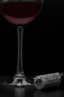 Reflections On Bottle Photograph - Wine And Cork by Eugene Campbell