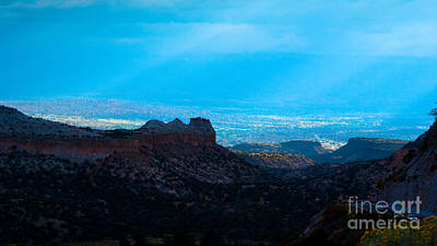 Bleak Desert Digital Art - Landscape 22 A Los Alamos Nm by Otri Park
